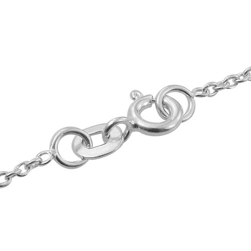 Designer Inspired- Sterling Silver Necklace (Size 20), Silver wt 4.75 Gms.