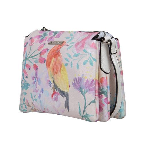 Bulaggi Collection - Bird Crossbody Bag (Size 21x17x2 Cm) - Multi