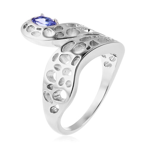 RACHEL GALLEY Tanzanite Misto Ring in Rhodium Overlay Sterling Silver