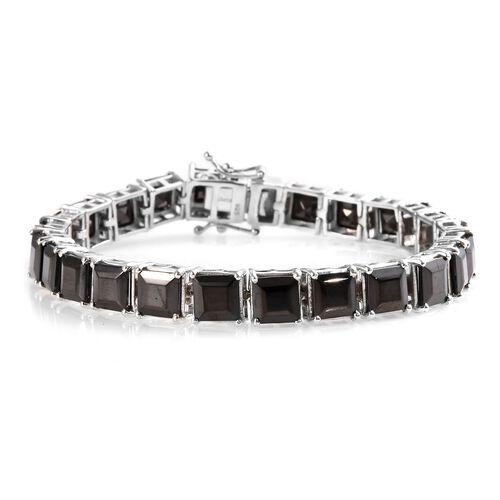 16 Ct Elite Shungite Tennis Bracelet in Platinum Plated Sterling Silver 13.50 Grams 7 Inch