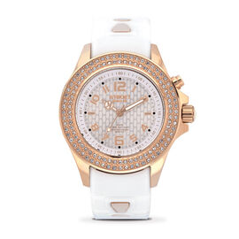 KYBOE Radiant Collection - Rose Gold 40MM Swarovski Crystal Studded LED Watch - 100M Water Resistanc