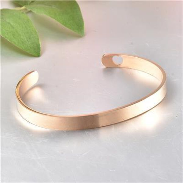 """Personalised Engravable Bangle Cuff in Stainless Steel, Size 7"""""""