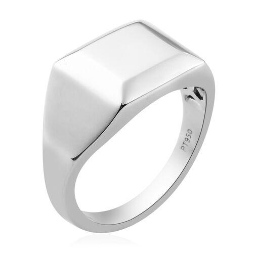 RHAPSODY 950 Platinum Signet Ring, Platinum wt. 10.93 Gms