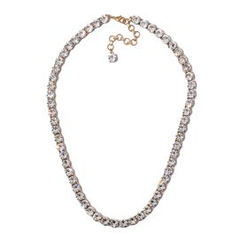 J Francis White Crystal from Swarovski Adjustable Necklace in 18K Yellow Gold Plated 18 Inch