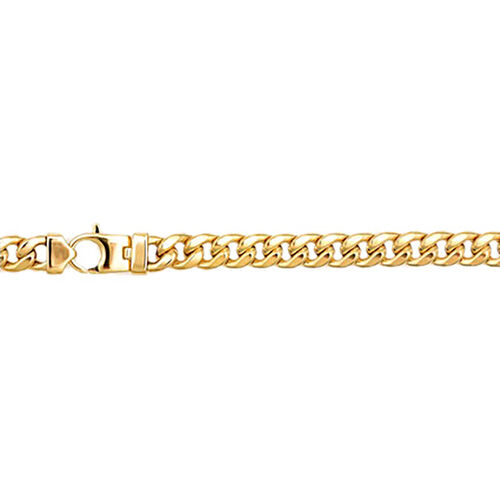 Italian Made 9K Yellow Gold Curb Bracelet (Size 7), Gold wt. 12.00 Gms.