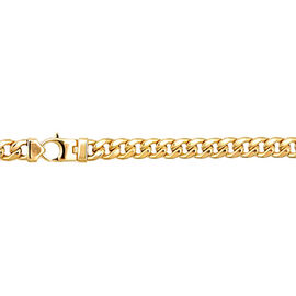 Italian Made 9K Yellow Gold Curb Bracelet (Size 7.5), Gold wt 13.06 Gms.