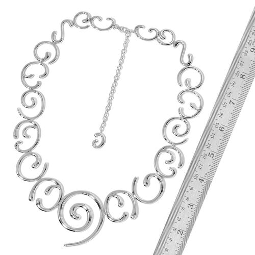 LucyQ Air Necklace (Size 24 with Extender) in Rhodium Plated Sterling Silver 98.00 Gms.