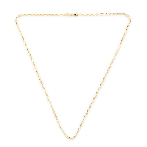 Royal Bali Collection Figaro Necklace in 9K Yellow Gold 18 Inch