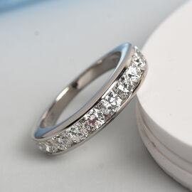 Signature Collection 950 Platinum IGI Certified Diamond (SI/G-H) Half Eternity Band Ring 1.50 Ct, Pl