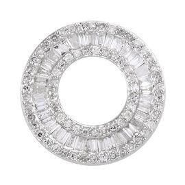 9K White Gold Diamond Circle of Life Pendant 1.00 Ct.
