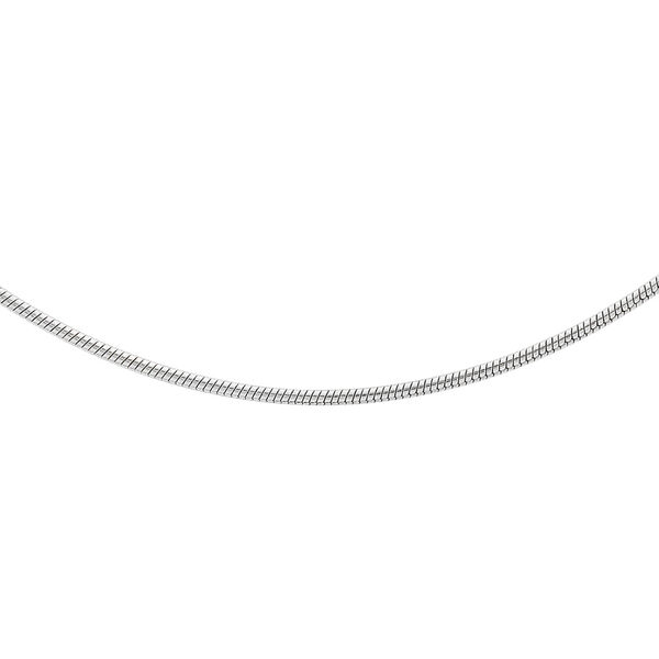 Sterling Silver Round Snake Chain (Size 24), Silver wt 3.90 Gms
