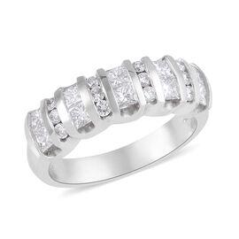 950PT Rhapsody 1 Carat Diamond Ring (Bar Set) SGL Certified VS EF.