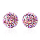 Pink Magic Colour Austrian Crystal Stud Earrings