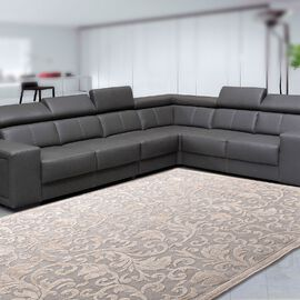 Vivaz Collection - Jaal- Damask Pattern Jacquard Carpet (Size 140x200 Cm) - Beige