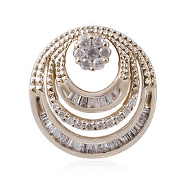 9K Yellow Gold SGL CERTIFIED Diamond (Rnd and Bgt) (I3 / G-H) Pendant 0.250 Ct.