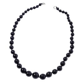 Graduated Black Howlite  Necklace (Size 22.5)