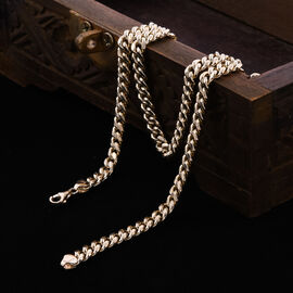 Close Out Deal- 9K Yellow Gold Curb Necklace (Size 20), Gold Wt. 15.21 Gms