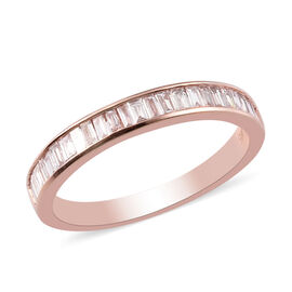 Exclusive Edition 9K Rose Gold SGL Certified Natural Pink Diamond(I3) Half Eternity Ring 0.33 Ct.