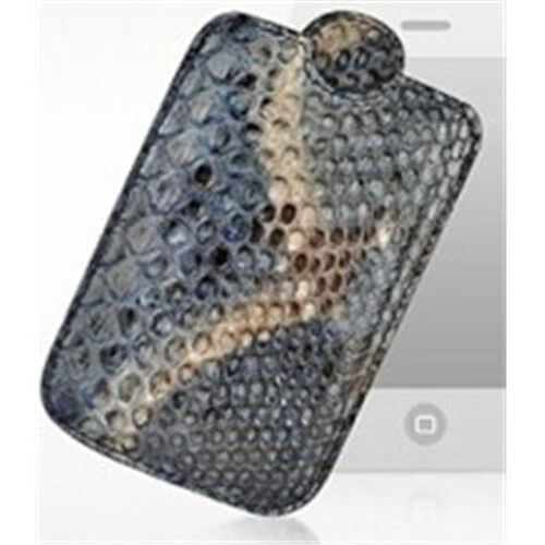 Genuine Leather Snakeskin Print Mobile Cover