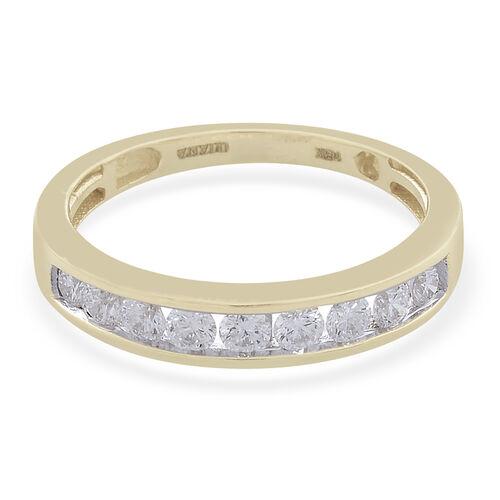 ILIANA 18K Yellow Gold IGI Certified (SI/G-H) Diamond (Rnd) Ring  0.500 Ct.