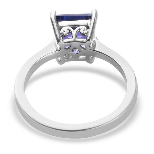 RHAPSODY 950 Platinum AAAA Tanzanite Solitaire Ring 2.10 Ct, Platinum wt 5.20 Gms
