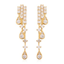 J Francis Made with SWAROVSKI ZIRCONIA Waterfall Earrings in Gold Plated Sterling Silver