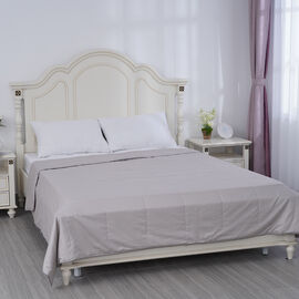 SERINITY NIGHT Deluxe Range 100% Mulberry Silk Quilt with 100% Cotton Cover (Size King; 225x220 cm)