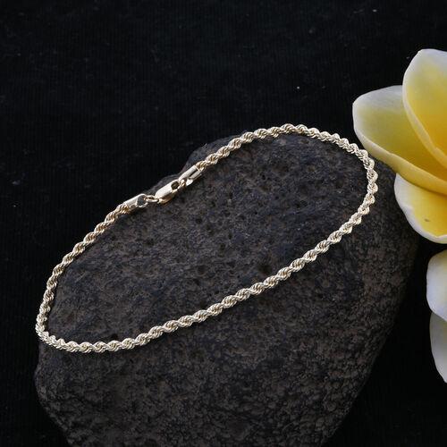 Royal Bali Collection 9K Yellow Gold Rope Bracelet (Size 7.5) 1.22 Grams