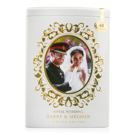AHMAD TEA Harry and Meghan Wedding Tea Tin - White