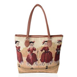 New Season Light Weight Victoria Girls Large Tote Bag (Size 42x35x32x10.5 Cm)