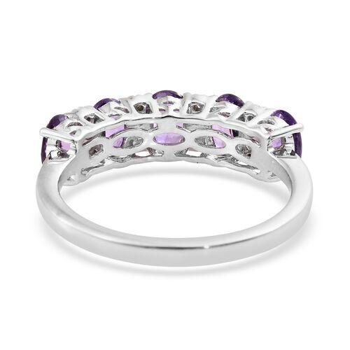 One Time Deal-ILIANA 18K White Gold UnHeated AAAA Natural Purple Sapphire (Ovl), Diamond (SI/G-H) Ring 2.750 Ct.