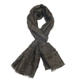 Sparkle Black Colour Scarf (Size 180x47 Cm)