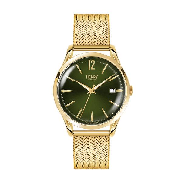 Personalised Engravable Henry London Chiswick Ladies Pale Hamilton Gold Stainless Steel Bracelet Watch