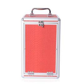 5 Layer Jewellery Box - Dragon Skin Pattern (Size 33x2019.5 Cm) Wine Red Colour