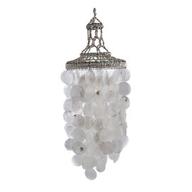 Bali Collection - White Seashell Decorative Wind Chime (Size 68x28 Cm)