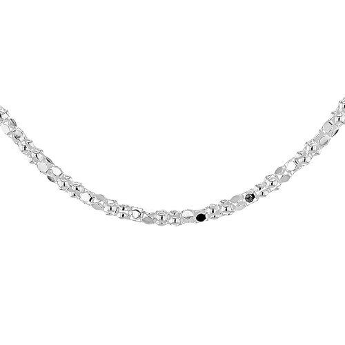 Sterling Silver Mirror Popcorn Chain (Size 18), Silver wt 3.20 Gms