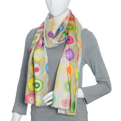 Multi Colour Digital Print Scarf (Size 200x70)