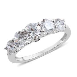 J Francis 9K White Gold (Rnd) Ring Made With SWAROVSKI ZIRCONIA
