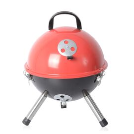 Portable Barbeque Grill (Size: D32xH42.5 Cm) - Red