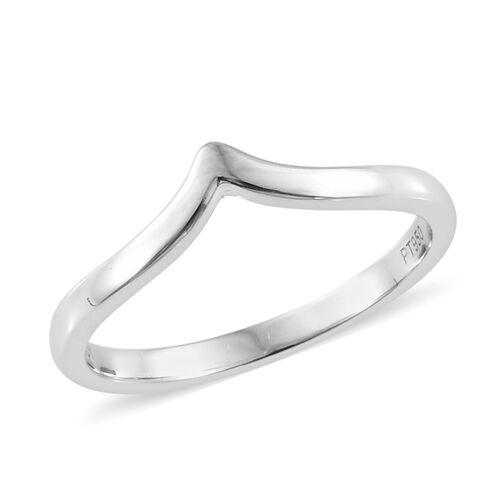 RHAPSODY 950 Platinum Wishbone Ring, Platinum wt. 2.79 Gms.