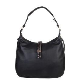 Bulaggi Collection - Bibis Hobo Bag (Size 37x30x10 Cm) - Black