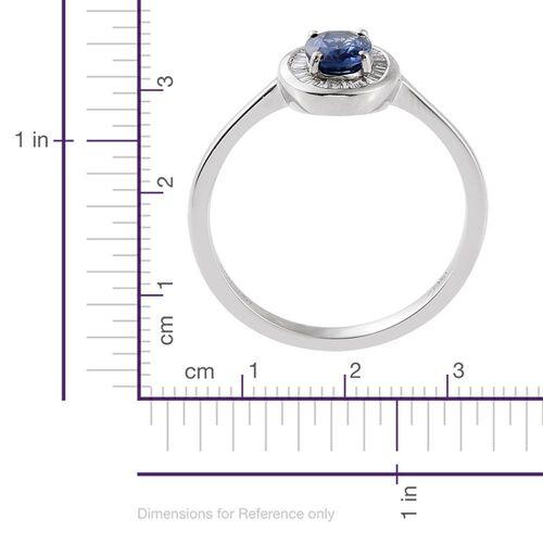 RHAPSODY 950 Platinum AAAA Ceylon Blue Sapphire (Ovl 1.02 Ct), Diamond (VS/E-F) Ring 1.250 Ct.