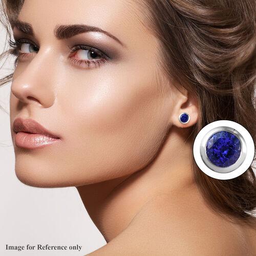 RHAPSODY 950 Platinum AAAA Tanzanite (Rnd) Stud Earrings (with Screw Back) 2.60 Ct, Platinum wt. 4.60 Gms