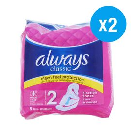 Always: Classic Maxi with Wings 9s (Set of 2)