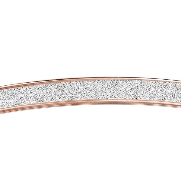 Personalised 9k Rose Gold Stardust Bangle Size 7.5