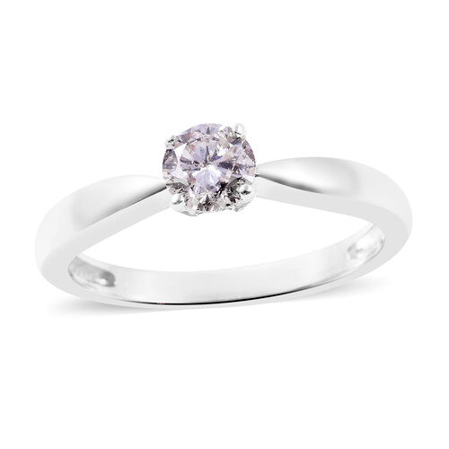 0.50 Ct Diamond Solitaire Ring in 14K White Gold 2.75 Grams SGL Certified I1 I2 GH