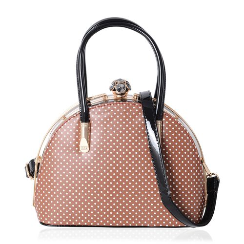Boutique Limited Collection Brown Polka Dot Pattern Bag (Size 27x20x13 Cm)