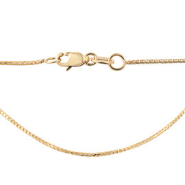 9K Yellow Gold Franco Chain (Size 16), Gold wt 1.70 Gms