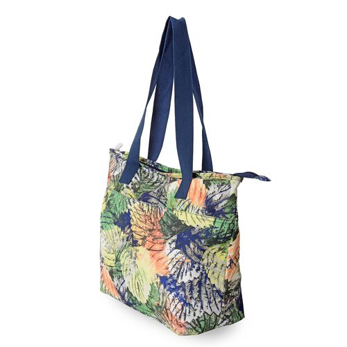 Everly Water Resistant Colourful Leaf Pattern Large Weekend Bag (Size 47x33x32x14.5 Cm).