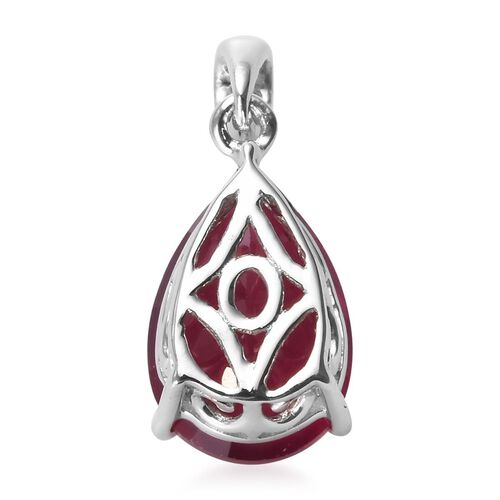 9K White Gold AA African Ruby Pendant 4.40 Ct.